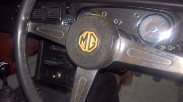 MGB Gold boot and bumper badges steering