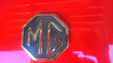 MGB Gold boot and bumper badges boot