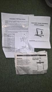 Engine Lifting Kit - instructions
