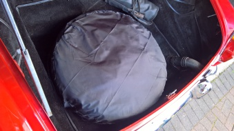 Spare wheel cover and storage cover