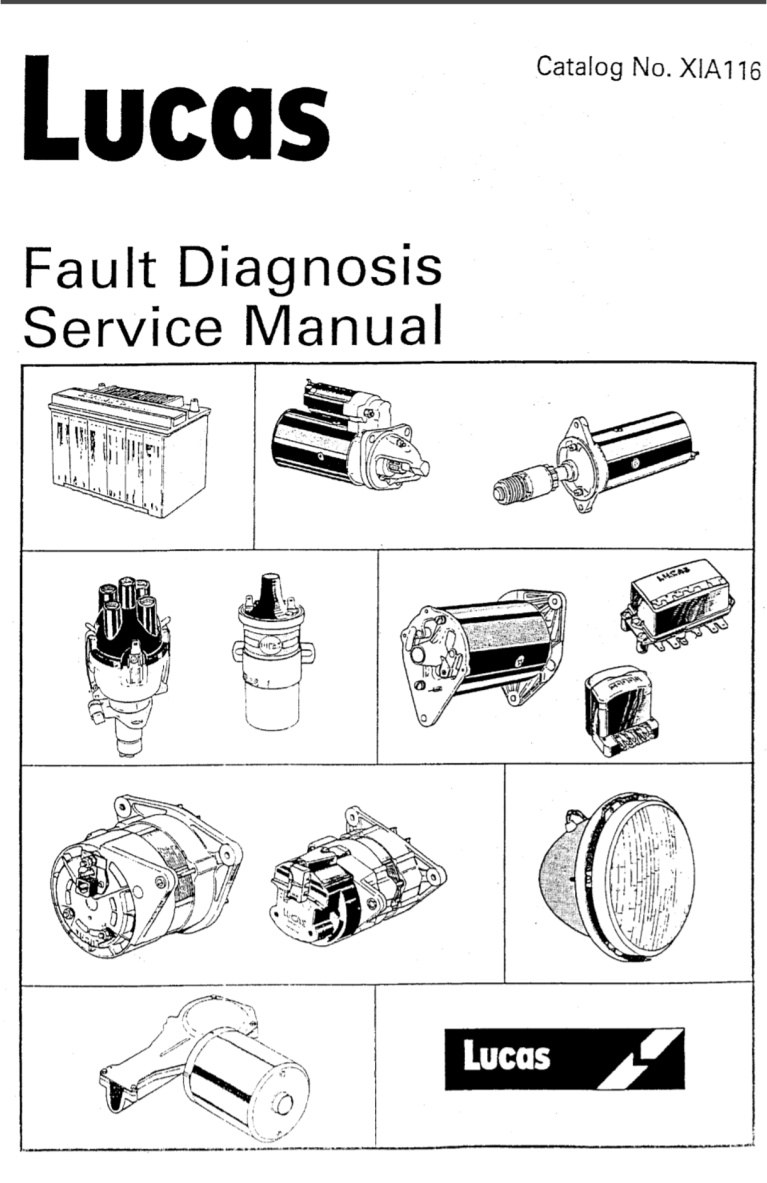 Lucas Fault Diagnosis Service Manual